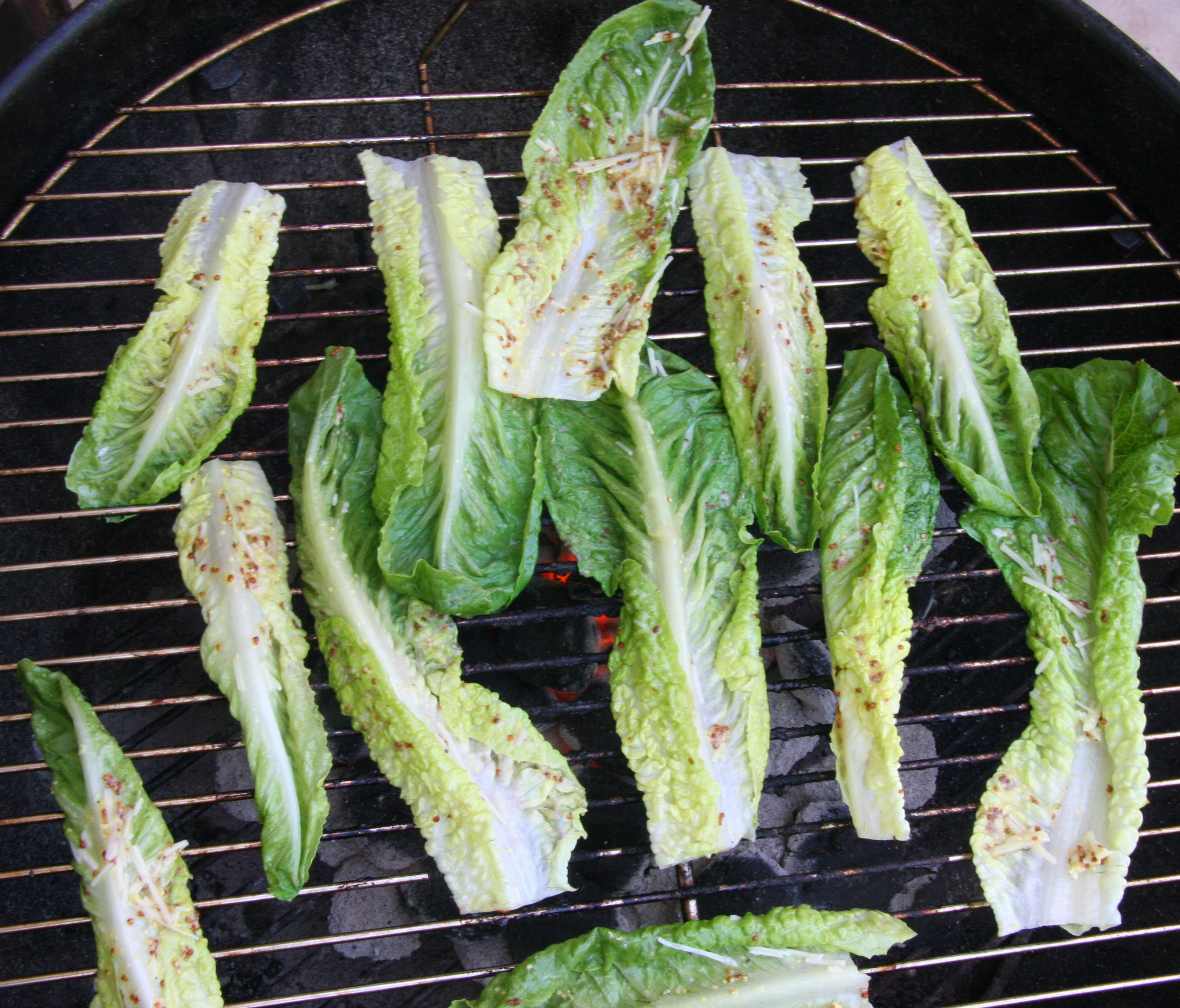Grilling Romaine lettuce takes less than five minutes, but adds a ...