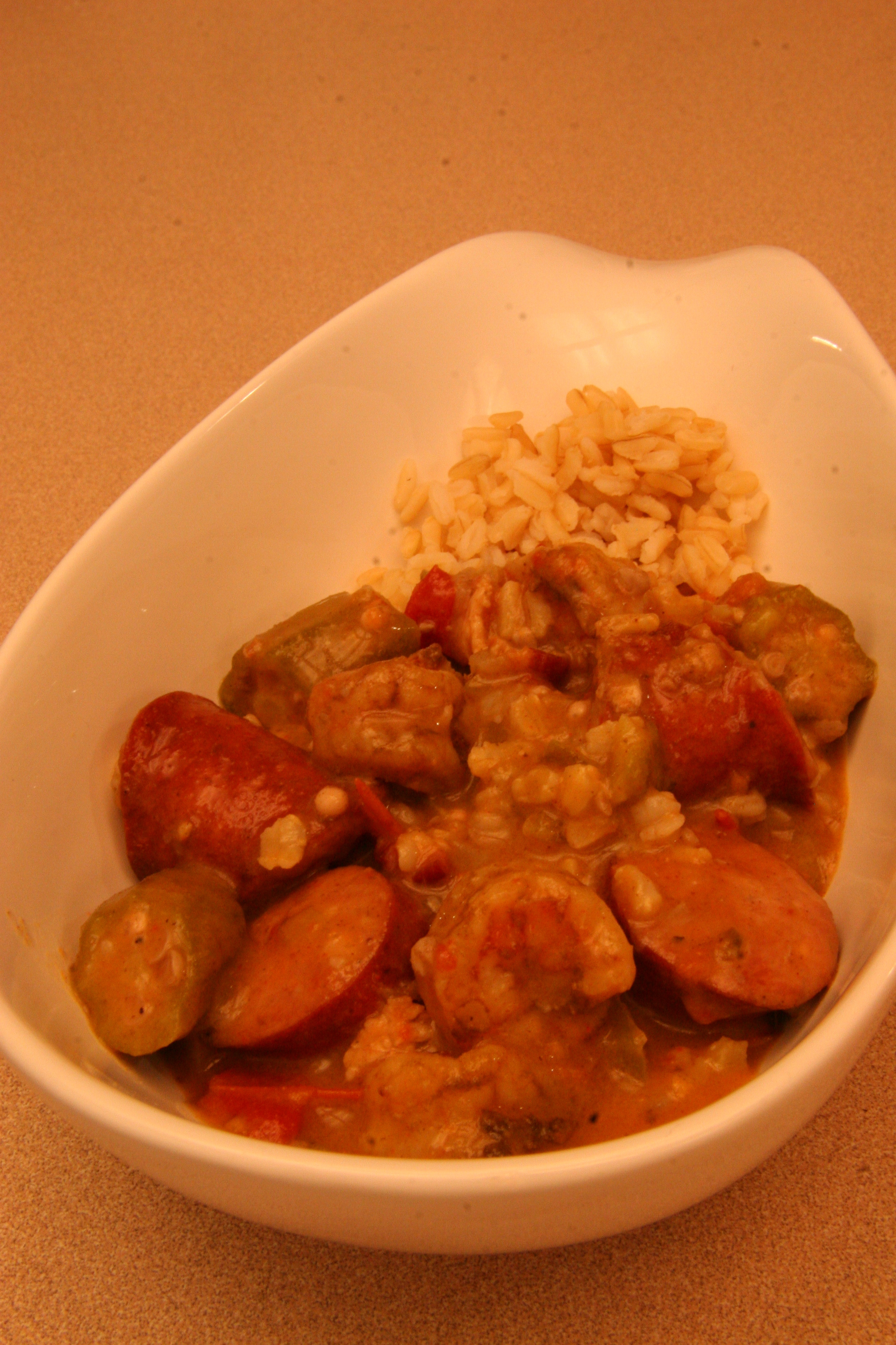 brings me right back to Mama's kitchen. Shrimp and sausage gumbo ...